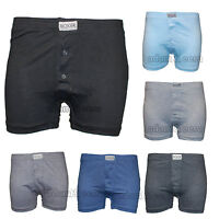 Mens Cotton Rich Elastic Waistband Dark Assorted Boxer Shorts 3 or 6 Pairs