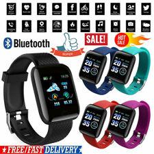 Reloj inteligente Bluetooth 4.2 de la presión arterial de oxígeno de Ritmo Cardíaco Deporte Fitness ~ Tracker