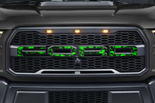 Ford F150 SVT Raptor Grille Insert Graphics Stickers Decals 2015-2018 GRN SKULLS