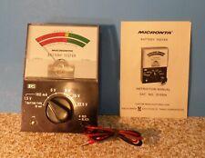 Vintage Micronta Radio Shack Battery Tester 22-030 w/ Box & Manual