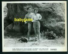 JOHNNY SHEFFIELD BEVERLY GARLAND VINTAGE 8X10 PHOTO 1954 BOMBA KILLER LEOPARD