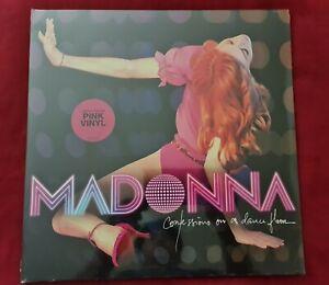Madonna Confession On A Dancefloor Original Pink 2 Vinyl LP New Hyper Sticker