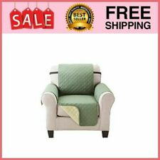 Aarmchair Recliner Cover Protector With Pockets For Leather Chair Reversible New