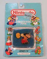 1989 Nintendo Collector Pin Mario w/ Hammer Sealed NIB ACE Series A #5 NES era
