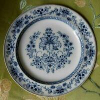 "1915 Wedgwood MANDARIN Plate Flow Blue  8-1/4"" Etruria England"
