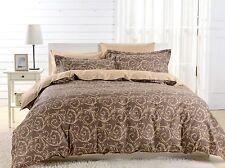 Duvet Cover Set Queen 6 Piece 100% Cotton Fitted Sheet Dolce Mela Bedding DM602Q