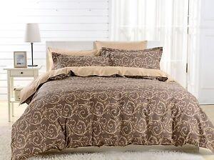 DM602Q - Queen Duvet Cover Set - 6 Piece 100% Soft Combed Cotton by Dolce Mela