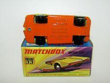 Matchbox Superfast No 33 Datsun 126X Rare SMOOTHE BASE MIB