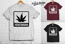 Vegetariana T Shirt cannabis 420 Wiz Humo Khalifa marihuana Addicted Ganja Swag