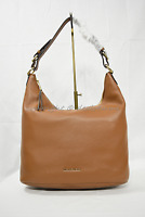 Michael Kors Lupita Large Leather Convertible Hobo/Shoulder Bag in Luggage Brown