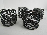 Dark Wire Spun Napkin Rings (4) Contemporary Tabletop