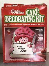 Vintage Wilton Strawberry Shortcake Cake Decorating Kit Pan