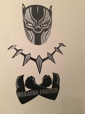 Silver Black Panther Mask Necklace Custom Removable Car Wall Decal Stickers