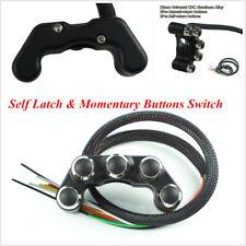 Motorcycle 7/8'' Handlebar Headlamp Hazard Brake Self Latch+Reset Buttons Switch