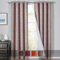 Fannie 100% Blackout Curtains Triple Pass Thermal Insulated (Set of 2 Panels)