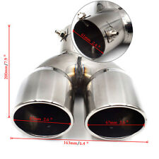 "61mm/2.4"" Polished S.S 304  Auto Car Rear Dual Exhaust Pipe Tail Muffler Tip"