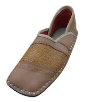 Jutti Handmade Leather Indian Men Flat Shoes Mojari Loafers UK 7.5-10.5 EU 41-44