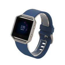 US Ship Large Soft Silicone Watch Band Wrist Strap For Fitbit Blaze Smart Watch
