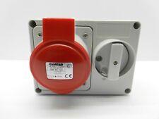 GEWISS GW66020 32 AMP 415 VOLT 5 PIN RED IP44 INTERLOCKED SWITCHED SOCKET