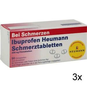 3x IBUPROFEN Heumann Schmerztabletten 400 mg 50 St PZN: 7728561