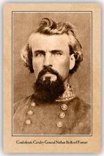 NATHAN BEDFORD FORREST Confederate General Civil War Vintage Photograph CARD CDV