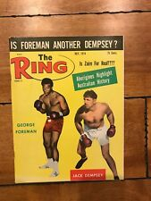 THE RING MAGAZINE GEORGE FOREMAN JACK DEMPSEY BOXING HOFers COVER JULY 1974