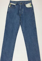 Roccobarocco jeans W30 tg 44 vintage uomo blu gamba dritta boyfriend slim T279