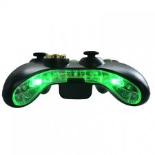 Custom Xbox 360 Pre-Wired LED Bottom Bumper Bar Mic Plate Insert Mod Kit (Green)