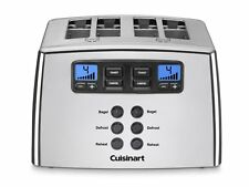 Cuisinart CPT-440C Motorized LCD 4-Slice Stainless Steel Toaster Bagel & Defrost
