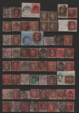 Great Britain Numeral Cancels All Different Stamps, Numbers or Type