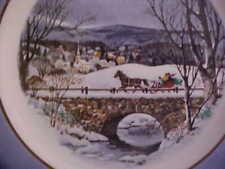 Two Wedgwood Avon Collectible Christmas Plates: 1979 Dashing Thru the Snow, 1973