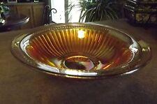 Vintage Carnival Swirl Glass Serving Bowl