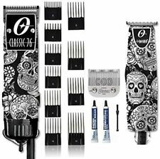 Oster Skulls Classic 76 Professional Hair Clipper, T-Finisher & 10 PC Comb Set