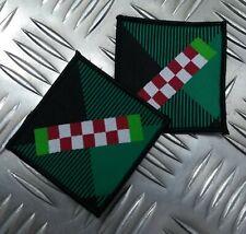 Genuine British Army Issue Argyle & Sutherland Highlanders Tartan TRF Patch X2