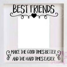 BEST FRIENDS VINYL DECAL STICKER FOR DIY PHOTO IKEA RIBBA BOXFRAME