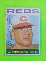 1964 TOPPS Signed Autograph #144 Al Worthington Reds
