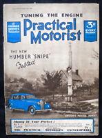 "PRACTICAL MOTORIST MAGAZINE 15 JAN 1938 - THE NEW HUMBER ""SNIPE"" ROAD TEST"