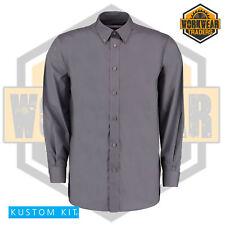 Kustom Kit KK140 Mens Long Sleeve Smart Business Formal Charcoal Premium Shirt