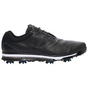 NEW Mens Under Armour Tempo Tour Golf Shoes Black/Black/Blue Sz 11.5 M