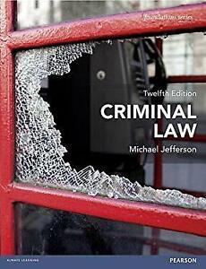 Criminal Law Paperback Michael Jefferson