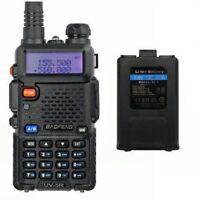 BaoFeng UV-5R + BATERÍA 136-174/400-520 MHz FM Dual Banda-Walkie Talkie Emisora