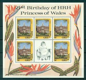 GRENADA*1982* 3 M/Sheets (5 stamps)*MNH** Royal Baby Overpr. - Mi.No 1177,9,81KB