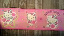 Hello Kitty Pep Rally Nursery Border Peel & Stick Wall Border Roll New