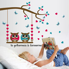 Owl On The Tree Branch Kids Wall Sticker Home Decor Removable Living Room DIY