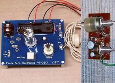 KIT - VACUUM TUBE Morse code practice oscillator telegraph key w/ AMPLIFIER SPKR
