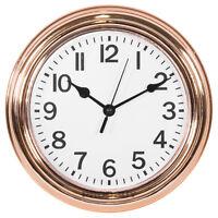 Round Basic 22cm Copper Rose Gold White Wall Clock Kitchen Decor Quartz Modern