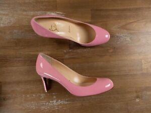 $695 CHRISTIAN LOUBOUTIN Simple Pump pink patent pumps - 6 US / 3 UK / 36 EU