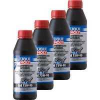 4x Liqui Moly Vollsynthetisches Getriebeöl (GL5) SAE 75W-90 Gear Oil 500 ml