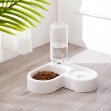 Dog Cat Automatic Water Dispenser Non-Spill Pet Food Dish Feeding Bowl Feeder