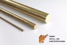 Messing Rundmaterial Rundstange rund  D. 12 mm / 100 mm Länge